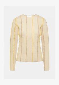 HOSBJERG - ANNA LONG SLEEVE - Bluzka z długim rękawem - beige - 3