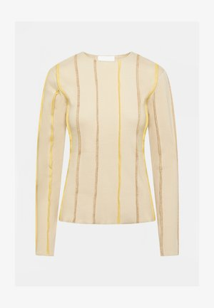 ANNA LONG SLEEVE - Long sleeved top - beige