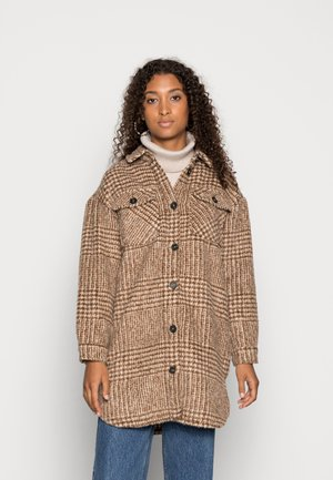 ONLSTORMY LONG SHACKET - Cappotto corto - whitecap gray/toasted coconut