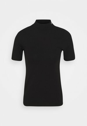 MOCK NECK - Print T-shirt - black