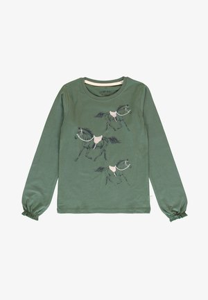 SMALL  - Long sleeved top - thyme