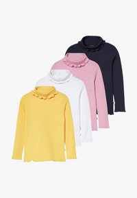Blue Seven - KIDS ROLLNECK MULTI 4 PACK - T-shirt à manches longues - weiß original/sun/mauve/nachtblau - 5