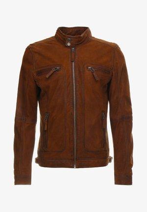 CASTEL - Leather jacket - whisky