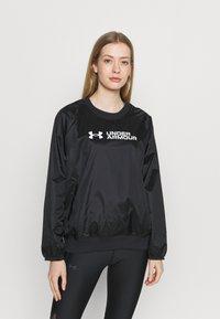 Under Armour - RECOVER SHINE CREW - Sweatshirt - black - 0