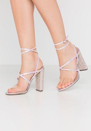 TIARAA - Sandály na vysokém podpatku - metallic/multicolor