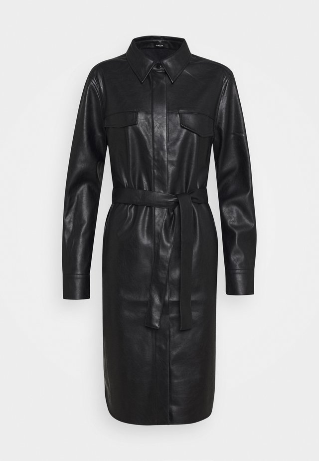 WELONI - Vestido camisero - black