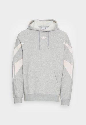 SHARK HOODIE - Sweatshirt - medium grey heather/white