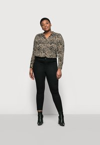 Marks & Spencer London - ZEBRA SPUN - Button-down blouse - black - 1