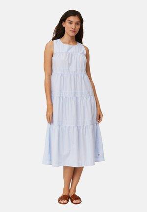 Kjole - lt blue white stripe