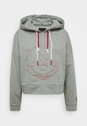MICKEY - Sweat à capuche - gris vigore