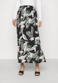 Vero Moda - VMSIMPLY EASY SKIRT - Maxi skirt - black - 0