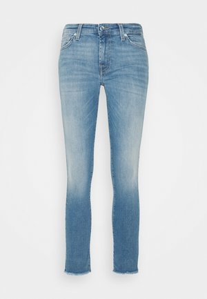 PYPER CROP  - Skinny džíny - light blue