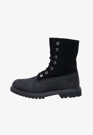 AUTHENTICS - Bottines à lacets - black