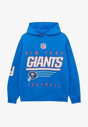 NFL NEW YORK GIANTS MIT KAPUZE - Hoodie - blue denim