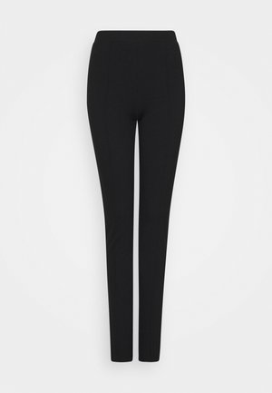 SLFCAROSLIM INTERLOCK PANT - Leggings - Trousers - black