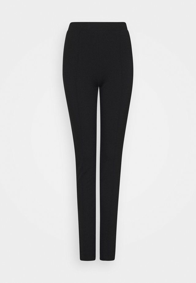 SLFCAROSLIM INTERLOCK PANT - Leggings - black