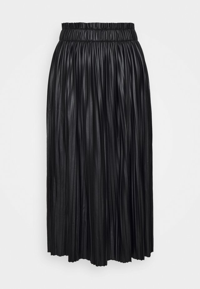 ONLMIE MIDI SKIRT - Gonna a pieghe - black