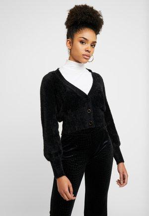 OBJCASRA CARDIGAN - Vest - black