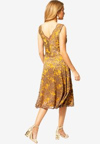 HotSquash - FLORAL  - Cocktail dress / Party dress - mustard brown - 1