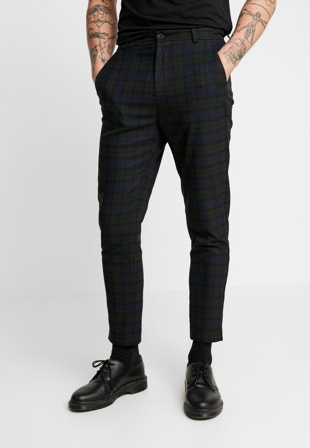 SLIM TROUSER BLACKWATCH - Pantaloni - green