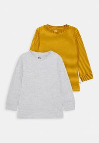 Cotton On - CORE LONG SLEEVE 2 PACK - Top s dlouhým rukávem - honey gold phantom stripe/grey marle - 0