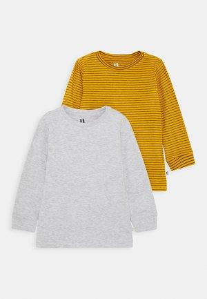 CORE LONG SLEEVE 2 PACK - Long sleeved top - honey gold phantom stripe/grey marle