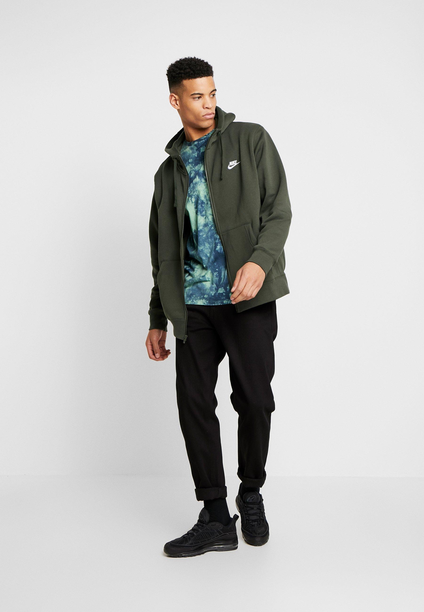 Nike Sportswear CLUB HOODIE - veste en sweat zippée - sequoia