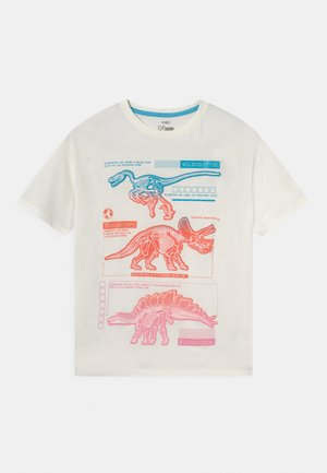 TRIPLE DINO - Print T-shirt - white