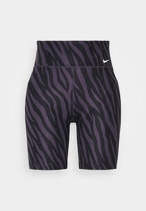 ONE - Legginsy - dark raisin/white