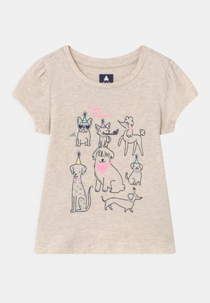 TODDLER GIRL  - T-shirt con stampa - mottled beige