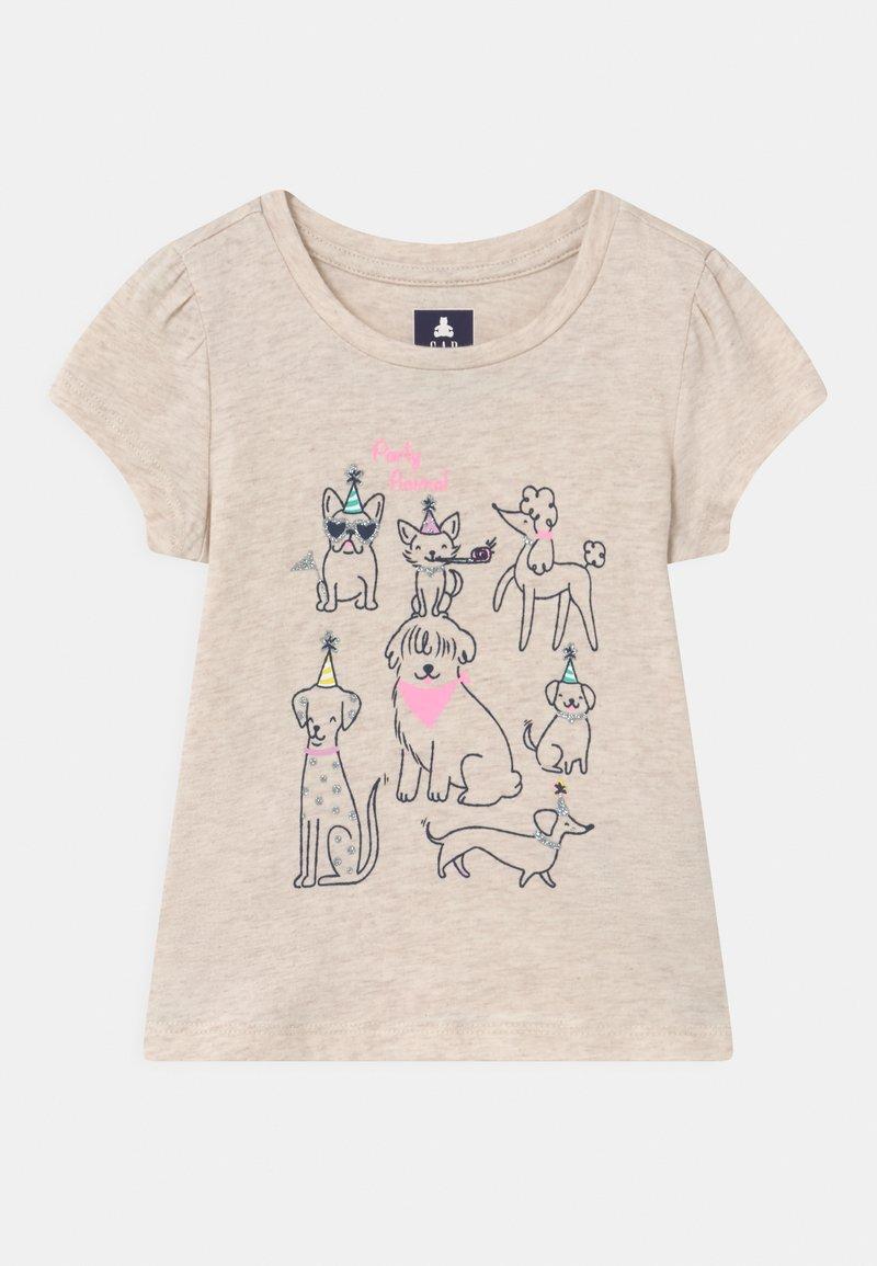 GAP - TODDLER GIRL  - Print T-shirt - mottled beige