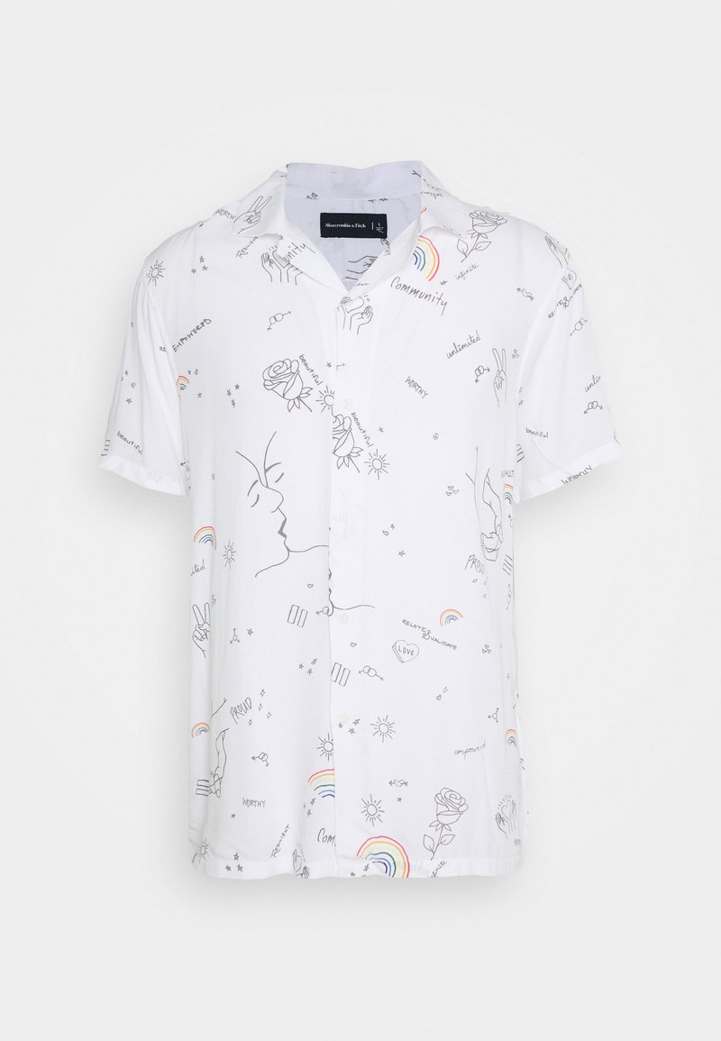 Abercrombie & Fitch - PRIDE RESORT - Košile - white