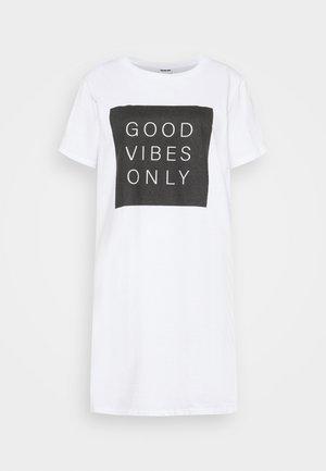 NMZODIAC SLOGAN - Print T-shirt - bright white