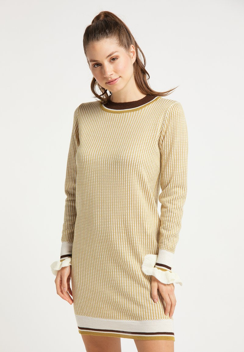 myMo - Jumper dress - senf