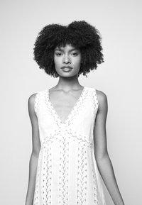MICHAEL Michael Kors - STRIPED ROPE MINI DRESS - Day dress - white - 4