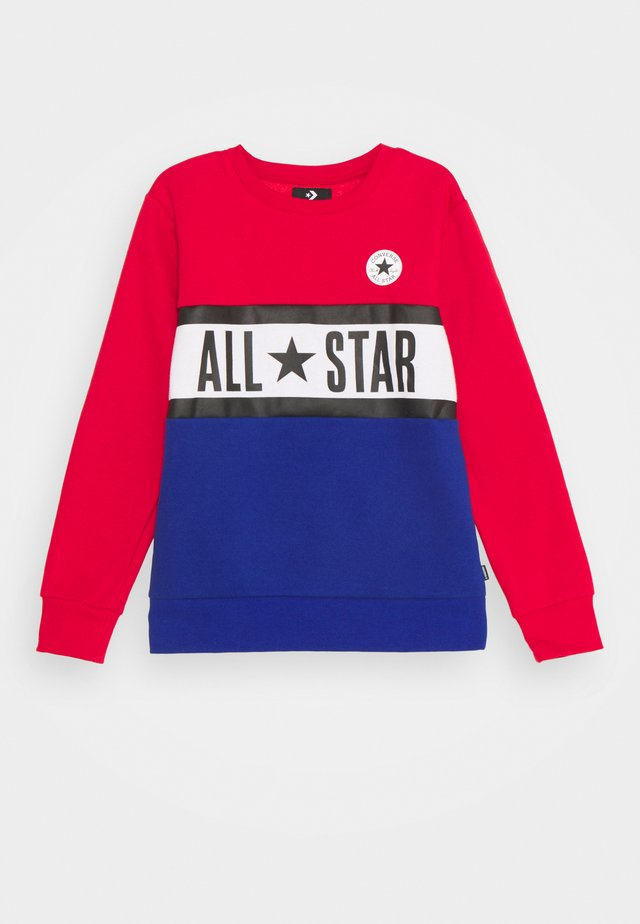 ALL STAR PANELED CREW UNISEX - Sweatshirt - enamel red