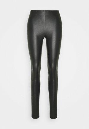 NEX - Leather trousers - black