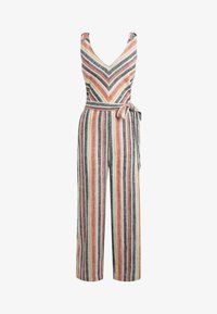 Next - MULTI STRIPE LINEN BLEND TIE SHOULDER JUMPSUIT - Jumpsuit - orange - 3