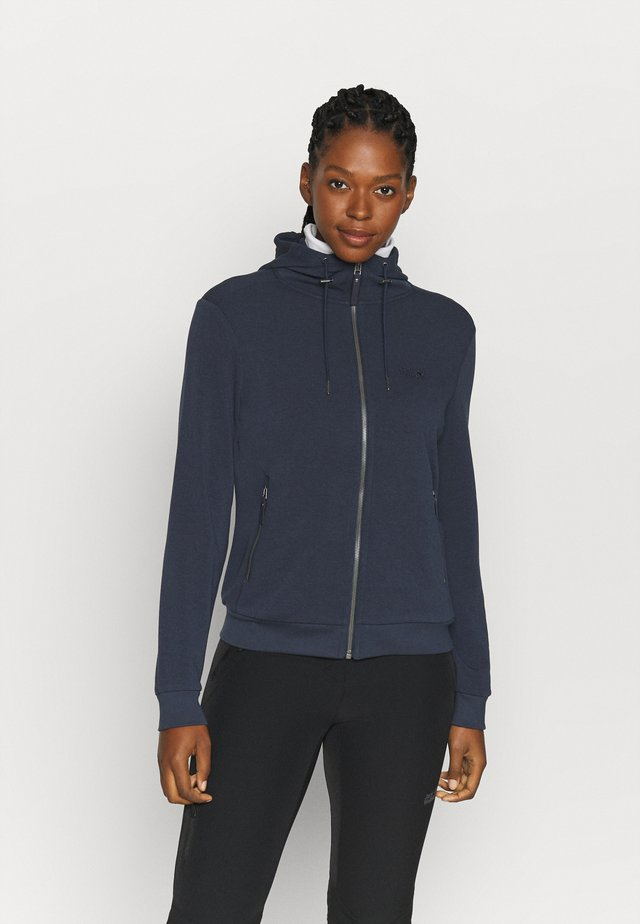 COAST JACKET - Mikina na zip - midnight blue