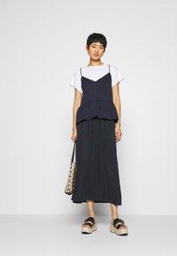 Marc O'Polo DENIM - SKIRT LONG - Maxi skirt - scandinavian blue - 1
