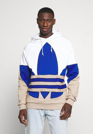 OUT HOOD - Bluza z kapturem - white/royblu/trakha