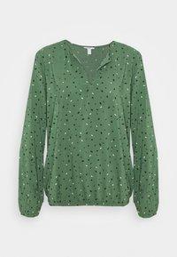 edc by Esprit - PRINT BLOUSE - Bluser - khaki green - 0
