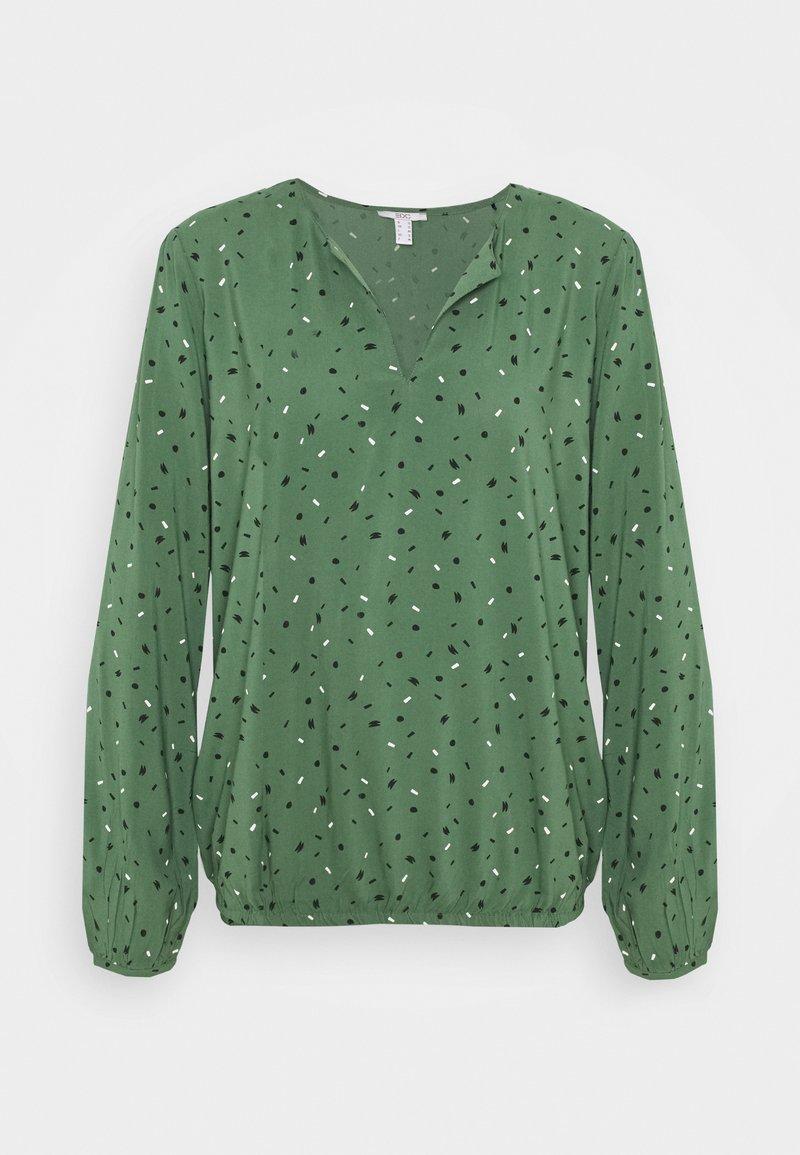 edc by Esprit - PRINT BLOUSE - Bluser - khaki green