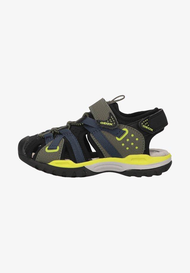 Sandales de randonnée - military/lime