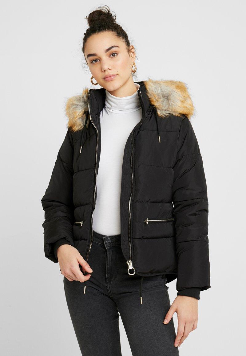Topshop - JACK HOOD PUFFER - Winter jacket - black