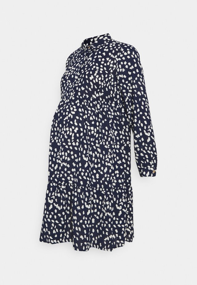 MLGLOMMA SHIRT DRESS - Day dress - navy blazer/snow white