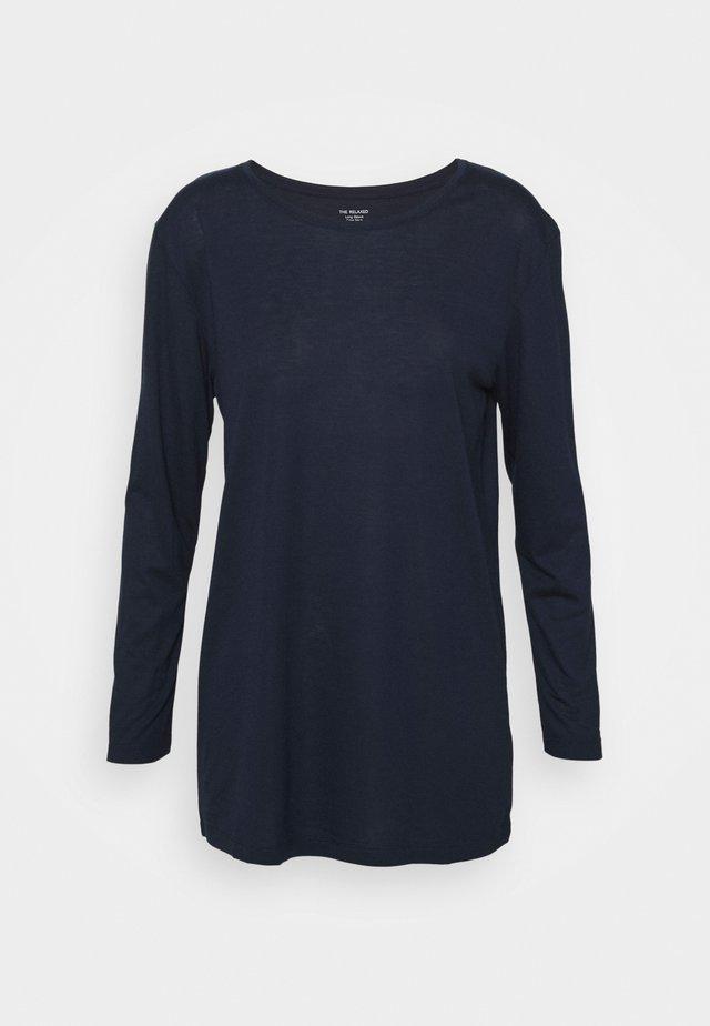 RELAXD CREW - Top sdlouhým rukávem - dark blue