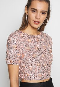 Lace & Beads - LETTY FLOWER - Bluse - nude - 3