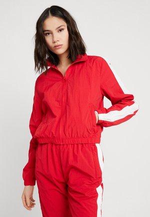 CRINKLE  - Training jacket - red/white