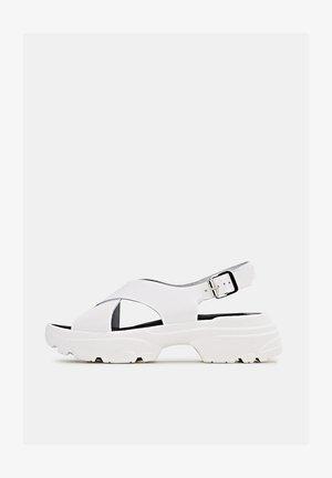 HUNKY  - Platform sandals - white